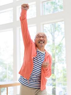 ガッツポーズをする男性の写真素材 [FYI01913448]