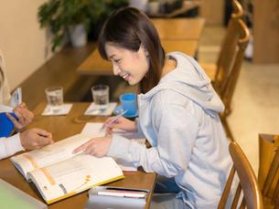 勉強をする女性の写真素材 [FYI01914399]