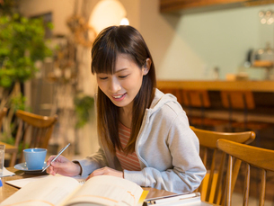 勉強をする女性の写真素材 [FYI01915257]