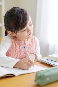 勉強する女の子の写真素材 [FYI01919675]