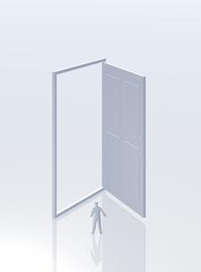 扉と人(CG)の写真素材 [FYI01922730]