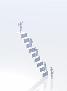 階段を登る人(CG)の写真素材 [FYI01922755]