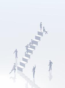 階段を登る人(CG)の写真素材 [FYI01922768]