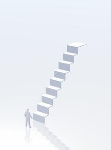 階段と人(CG)の写真素材 [FYI01922936]