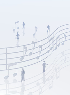 音符と人のデジタルイメージの写真素材 [FYI01923036]