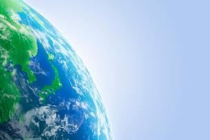 地球のCGイメージの写真素材 [FYI01924287]