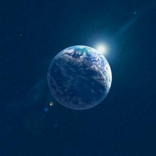 地球と光の写真素材 [FYI01925749]