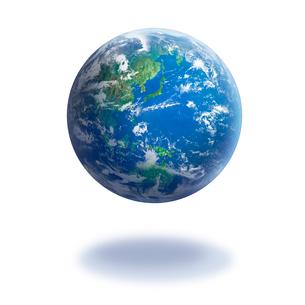 地球 白バックの写真素材 [FYI01925914]