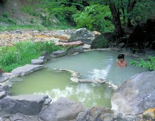 五色の湯旅館 高山村 長野県の写真素材 [FYI01925965]