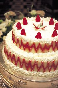 ウェディングケーキのアップの写真素材 [FYI01925989]