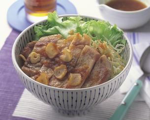 トンテキ丼の写真素材 [FYI01926516]