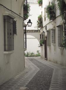 コルドバの白壁の家 スペインの写真素材 [FYI01926766]
