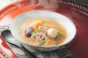 野菜と豚肉のキムチチゲの写真素材 [FYI01927147]