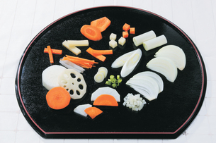 野菜の基本的な切り方の写真素材 [FYI01927785]