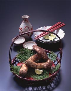 松茸と酒の写真素材 [FYI01927829]