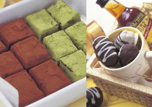 チョコレートのイメージ・コラージュの写真素材 [FYI01928435]