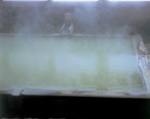五色温泉の内風呂の写真素材 [FYI01928810]