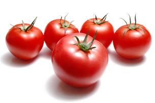 5個のトマトの写真素材 [FYI01929904]
