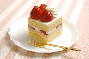 イチゴショートケーキの写真素材 [FYI01931151]