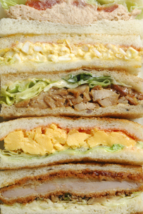 一面のサンドイッチの写真素材 [FYI01931204]