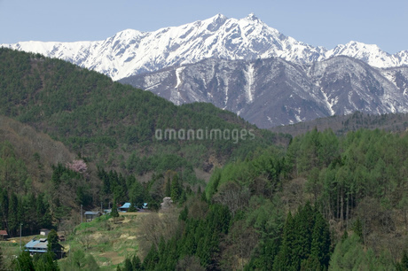 長野県小川村鹿島槍ヶ岳の風景の写真素材 [FYI01938985]