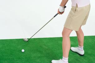 女性ゴルファーの写真素材 [FYI01939206]