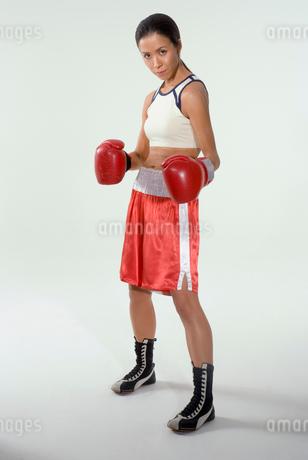 女性ボクサーの写真素材 [FYI01940017]