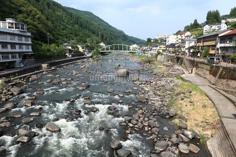 天ヶ瀬温泉 玖珠川の写真素材 [FYI01942802]