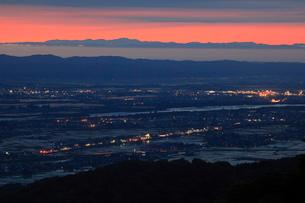 金倉山付近からの夕景の写真素材 [FYI01943570]