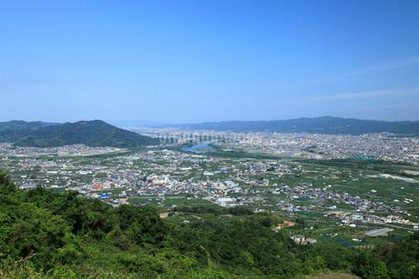 最初が峰から紀の川市街の眺めの写真素材 [FYI01943862]