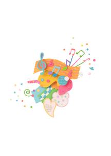 紙で作った音楽のイメージ クラフトの写真素材 [FYI01943893]