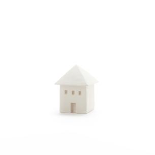 白い建物のオブジェ クラフトの写真素材 [FYI01944288]