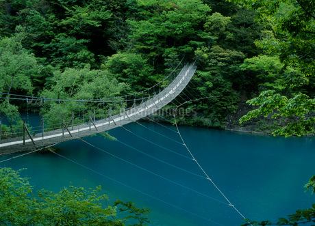 寸又峡 夢の吊橋の写真素材 [FYI01945366]