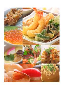 和食の集合 コラージュの写真素材 [FYI01945661]