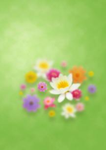 花による緑色の東洋のイメージのイラスト素材 [FYI01945943]