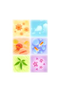 花の和のイメージ コラージュのイラスト素材 [FYI01946124]