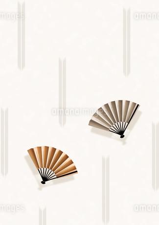 金と銀の扇子のイラスト素材 [FYI01946152]