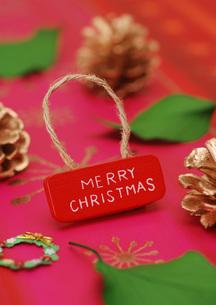 赤いクリスマスメッセージの写真素材 [FYI01946289]
