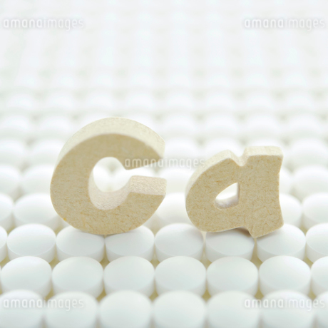 サプリメントとCaの文字の写真素材 [FYI01948310]