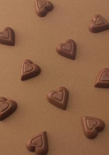 複数のハートのチョコレートの写真素材 [FYI01949429]