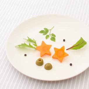 プレートにのった野菜の写真素材 [FYI01950104]