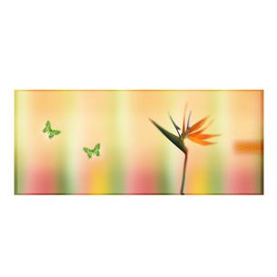 花と蝶のオリエンタルイメージのイラスト素材 [FYI01950120]
