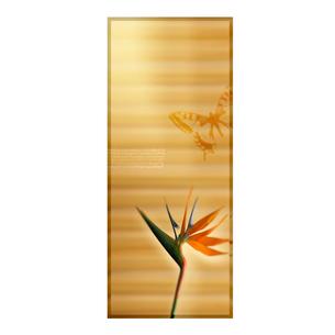 花と蝶のオリエンタルイメージのイラスト素材 [FYI01950207]