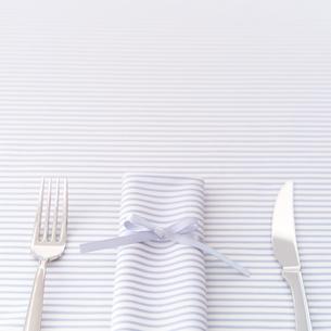 ナイフとフォークとナプキンの写真素材 [FYI01950243]