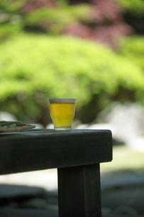 庭と冷えたビールの写真素材 [FYI01950697]