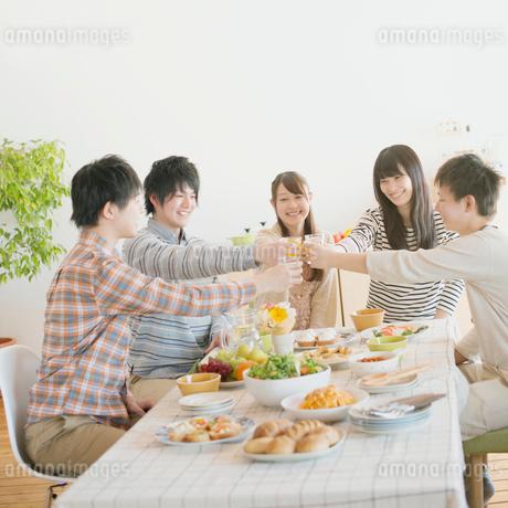 ホームパーティーをする若者たちの写真素材 [FYI01950994]