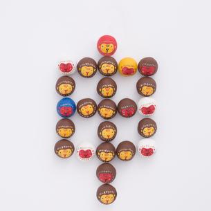 猿で作った申の文字 干支のクラフトの写真素材 [FYI01951189]