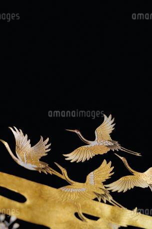 着物の鶴の柄の写真素材 [FYI01952809]