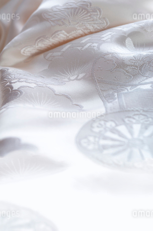 白無垢の織り柄の写真素材 [FYI01953989]