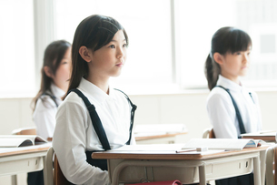 教室で授業を受ける小学生の写真素材 [FYI01954221]
